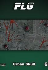 Frontline-Gaming FLG Mats: Urban Skull 6x3'