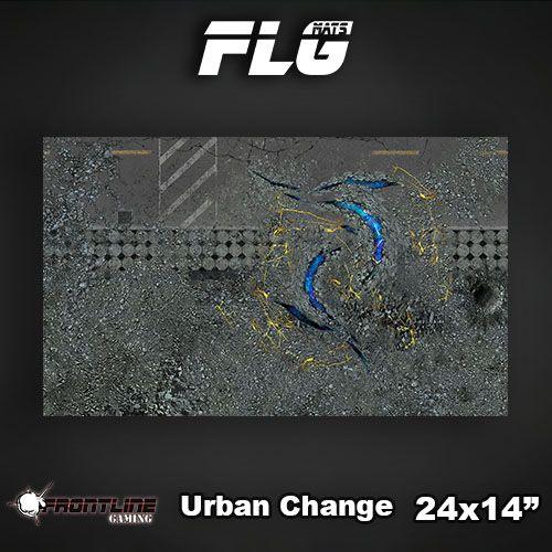 "Frontline-Gaming FLG Mats: Urban Change 24"" x 14"""