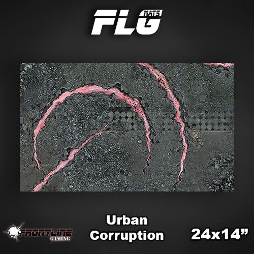 "Frontline-Gaming FLG Mats: Urban Corruption 24"" x 14"""