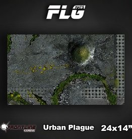 "Frontline Gaming FLG Mats: Urban Plague 24"" x 14"""