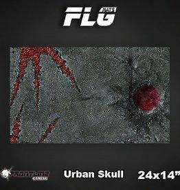 "Frontline Gaming FLG Mats: Urban Skull 24"" x 14"""
