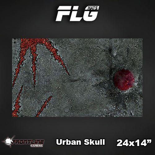 "Frontline-Gaming FLG Mats: Urban Skull 24"" x 14"""