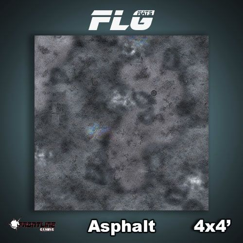 Frontline-Gaming FLG Mats: Asphalt 4x4'