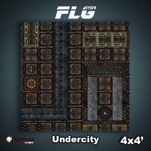 Frontline-Gaming FLG Mats: Undercity 4x4'