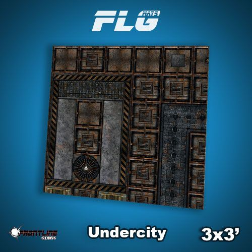 Frontline-Gaming FLG Mats: Undercity 3x3'