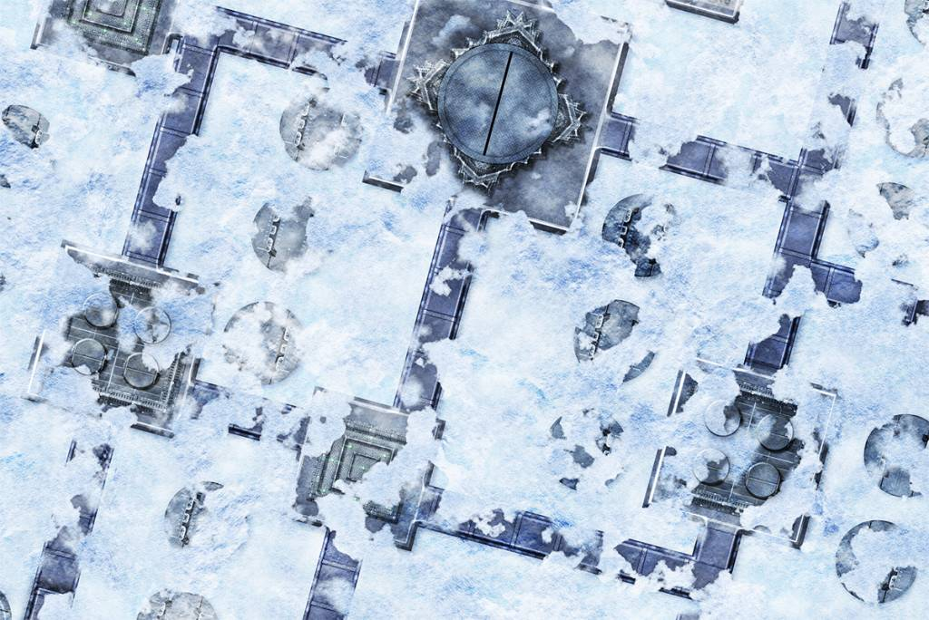 Frontline Gaming FLG Mats: Snow Base 6x3'