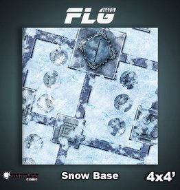 Frontline-Gaming FLG Mats: Snow Base 4x4'