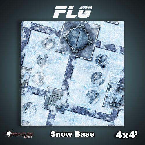 Frontline Gaming FLG Mats: Snow Base 4x4'