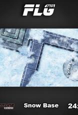 "Frontline-Gaming FLG Mats: Snow Base 24"" x 14"""
