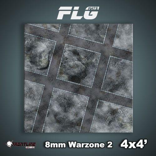 Frontline Gaming FLG Mats: 8mm Warzone 2 4x4'