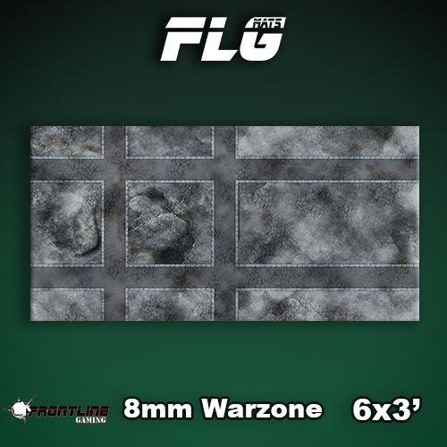 Frontline Gaming FLG Mats: 8mm Warzone 6x3'