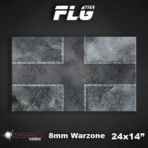 "Frontline Gaming FLG Mats: 8mm Warzone 24"" x 14"""