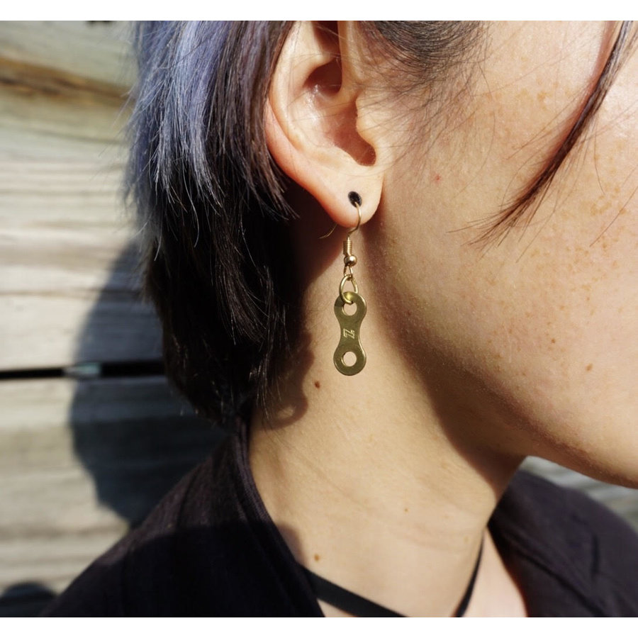 Campus UpCycle Chain Earrings Single