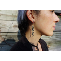 Campus UpCycle Chain Earrings