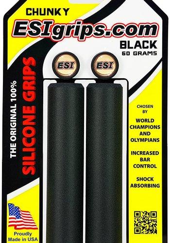 ESI 32mm Chunky Silicone Grips: Black
