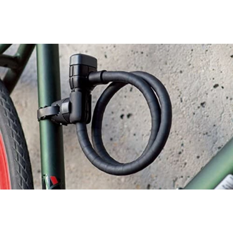 Abus ArmoRed 6 Series MicroflexKey 6615K/120/15 Black SCMU Cable Combo