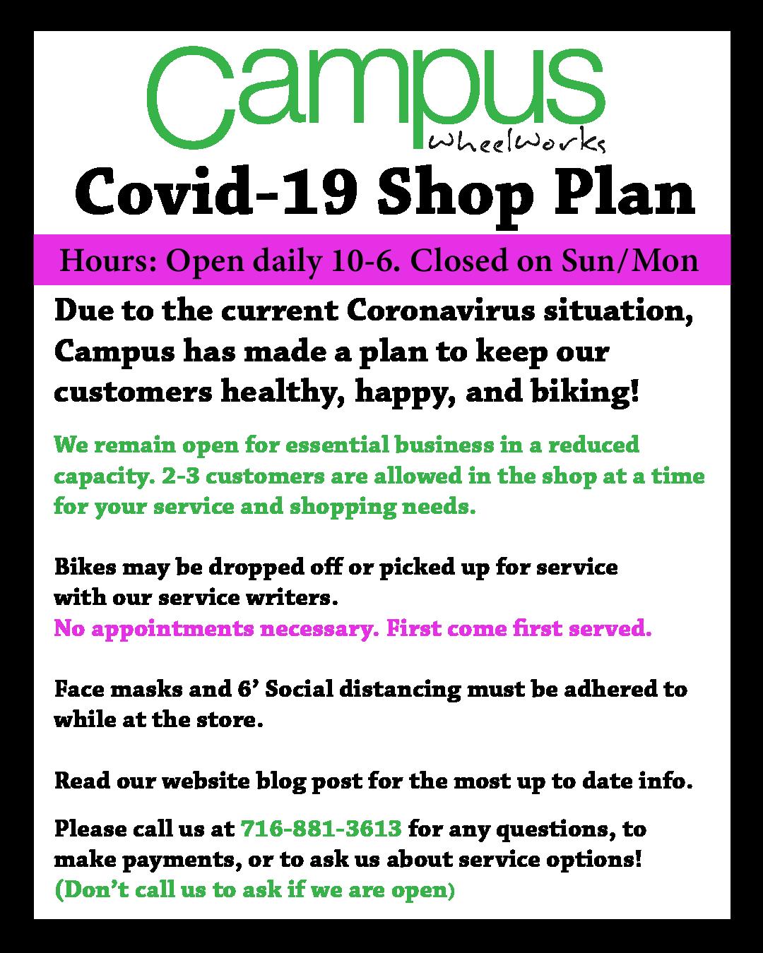 Campus Covid-19 business Update 11/3