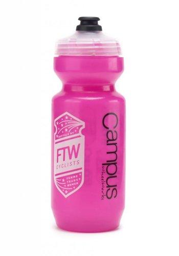 Purist FTW Bottle Trans Pink 22oz