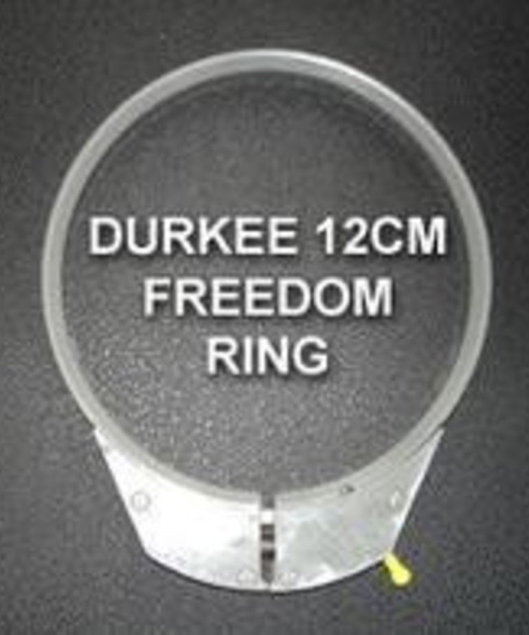 Durkee 12CM Hoop w_Freedom Ring - Janome Compatible - 360NS