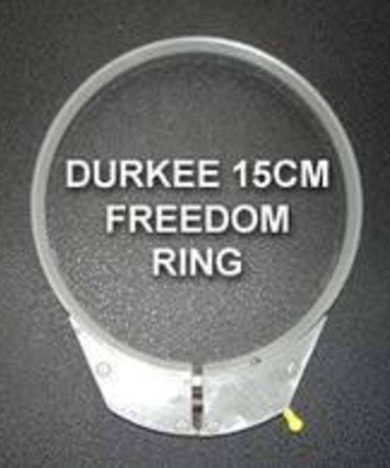 Durkee 15CM Hoop w_Freedom Ring - Janome Compatible - 360NS