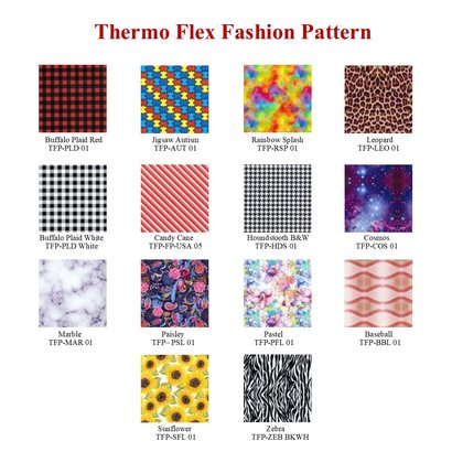 "Thermo Flex Fashion 12"" x 12"" Sheet"