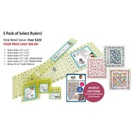 Quilters Select 5 Pack of Select Rulers