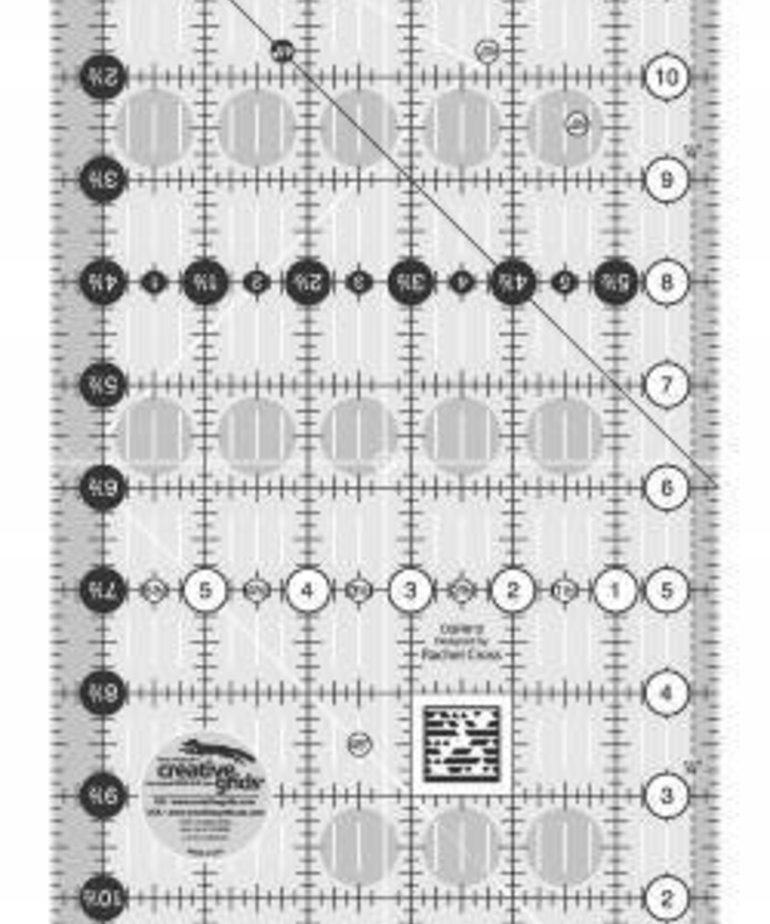 Checker Creative Grids Quilt Ruler 6-1/2in x 12-1/2in