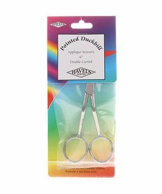Checker Havels Double Pointed Duckbill Applique Scissors 6in