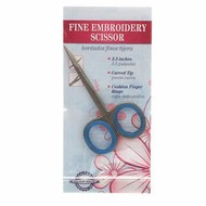 Checker Fine Embroidery Scissor with Curved Tip 3 1/2in