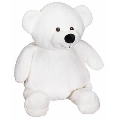 Checker Mister Buddy Bear White 16in