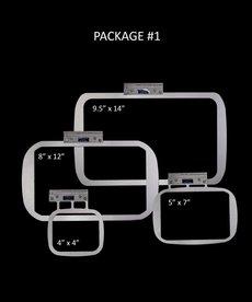 "Durkee EZ Frame Single Needle PKG #1 Includes One (1) Each : 9.5"" x 14"", 8"" x 12"", 5"" x 7"", 4"" x 4"" frames"