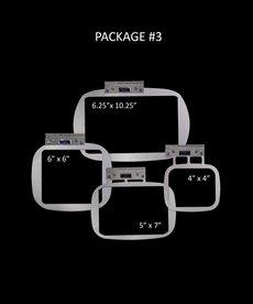 "Durkee EZ Frame Single Needle PKG #3 Includes One (1) Each : 6.26"" x 10.25"", 5"" x 7"", 6"" x 6"", 4"" x 4"" frames"