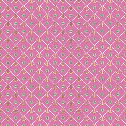 Oracal 651 Patterned Adhesive Vinyl - Ship Ahoy Pink 12