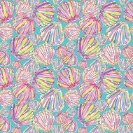 """Oracal 651 Patterned Adhesive Vinyl - By The Shore Blue 12"""" x 12"""" sheet"""