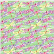 "Oracal 651 Patterned Adhesive Vinyl - Dragonflies Mint 12"" x 12"" sheet"