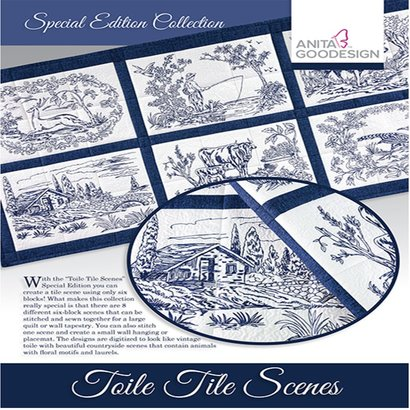 Anita Goodesign Special Editions: Toile Tile Scene