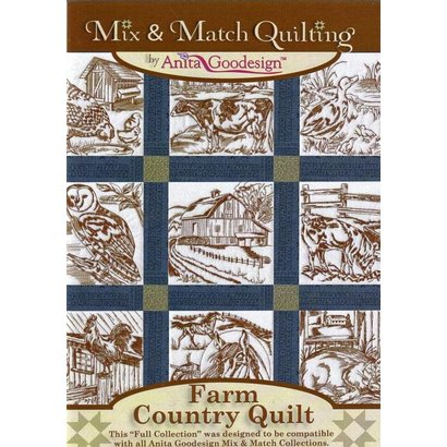 Anita Goodesign Full Collections: Farm Country Quilt