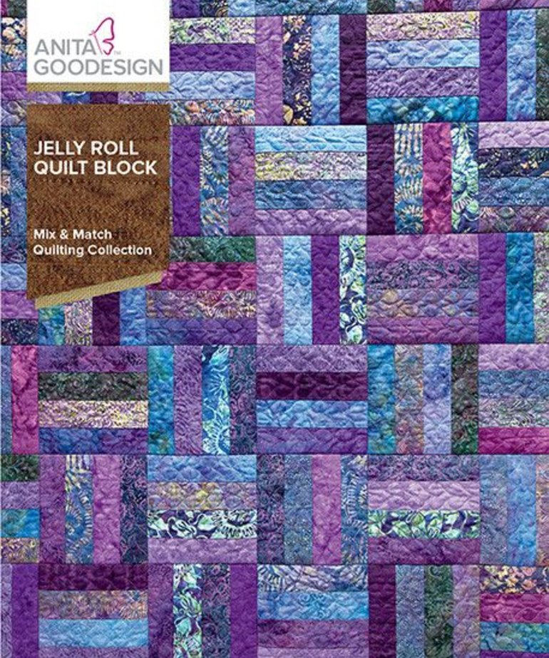 Anita Goodesign Full Collections: Jelly Roll Quilt