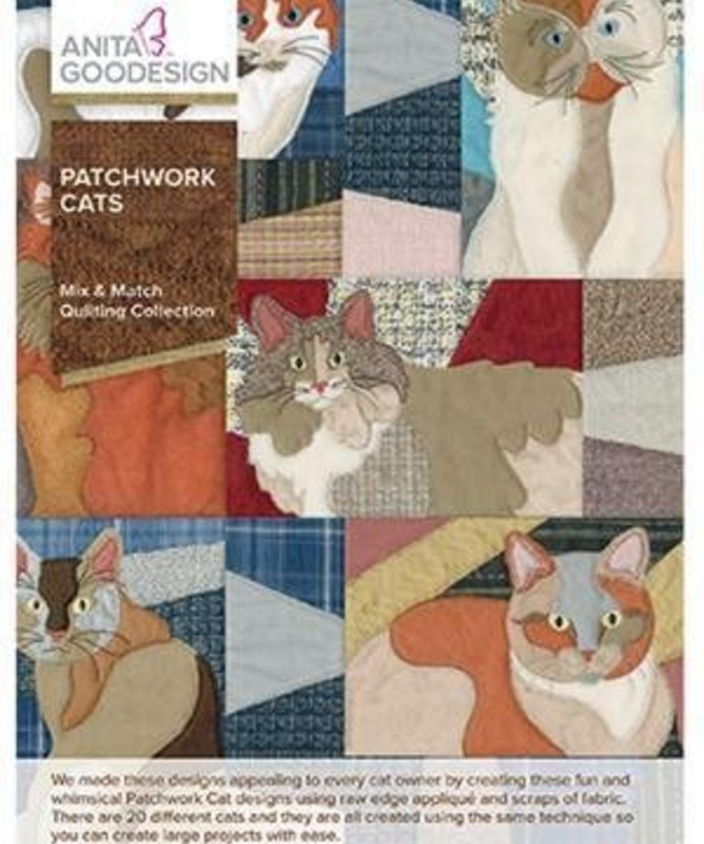 Anita Goodesign Full Collections: Patchwork Cats