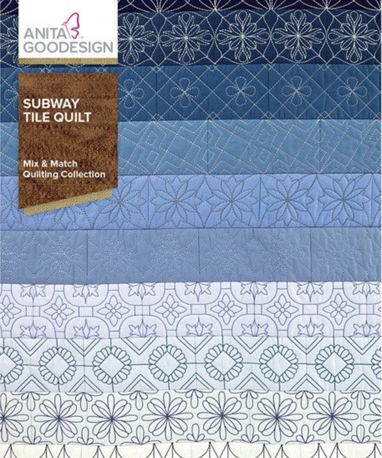Anita Goodesign Full Collections: Subway Tile Quilt