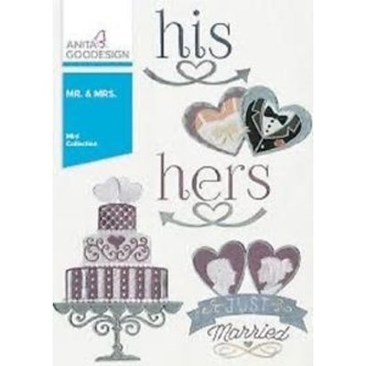 Anita Goodesign Mini Collections: Mr. and Mrs.