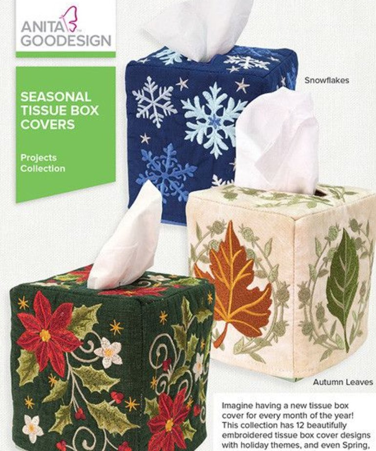 Anita Goodesign Mini Collections: Seasonal Tissue Box Covers