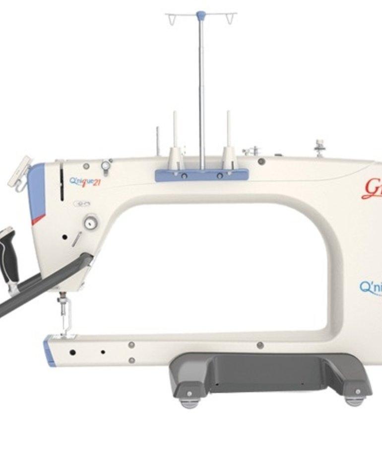 Grace Grace Qnique 21 Machine+Stitch Regulation+Continuum 8 or 10' Frame, QCT5 Beginnings Software +Quilt Motion Robotics Hardware