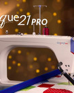 "Grace New Qnique 21 PRO Longarm Quilting Machine, 5"" Touch Screen 10x Larger, 2600SPM 50% Higher Speed, Set Minimum Cruise Speed, Low Bobbin Warning"