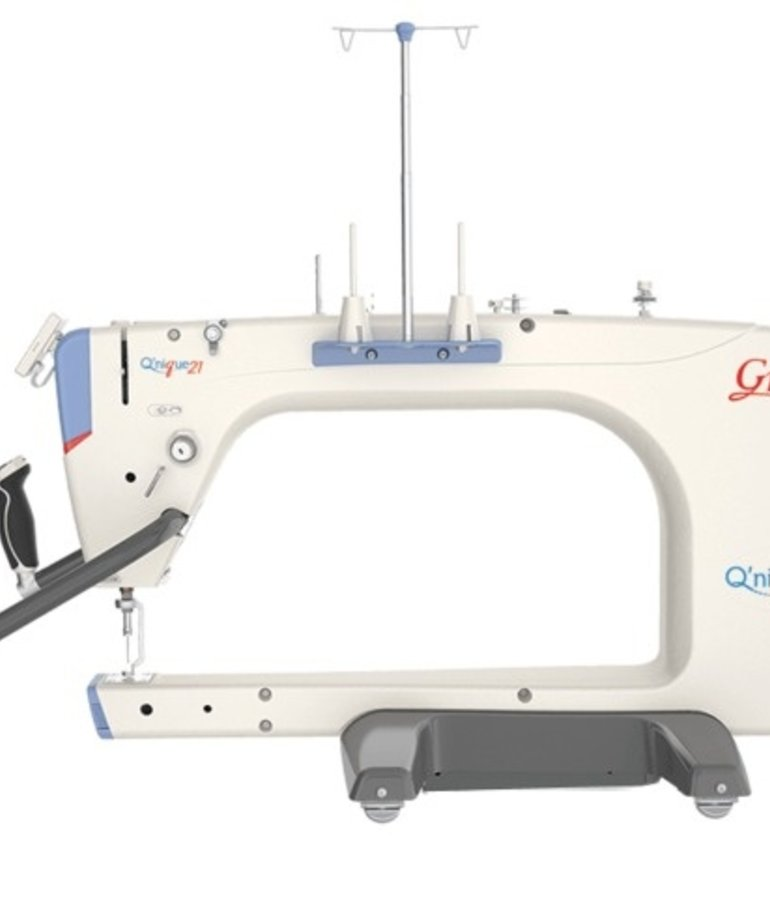 "Grace Grace Qnique 21"" Longarm Quilting Machine, Stitch Regulation +Continuum 8, 10 or Optional 12' Wide Quilting Frame"