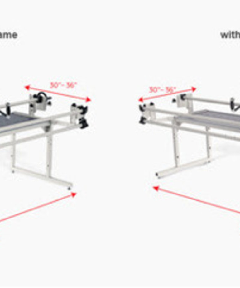 "Grace Grace Qnique 21"" Longarm Quilting Machine, Stitch Regulation +Continuum 8, 10 or Optional 12' Wide Quilting Frame"