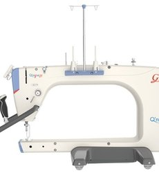 Grace Qnique Q21 Longarm Quilting Machine Head w/4V-track Dual Rollers, Stitch Reg, Encoders, Front Handles, Display Panel