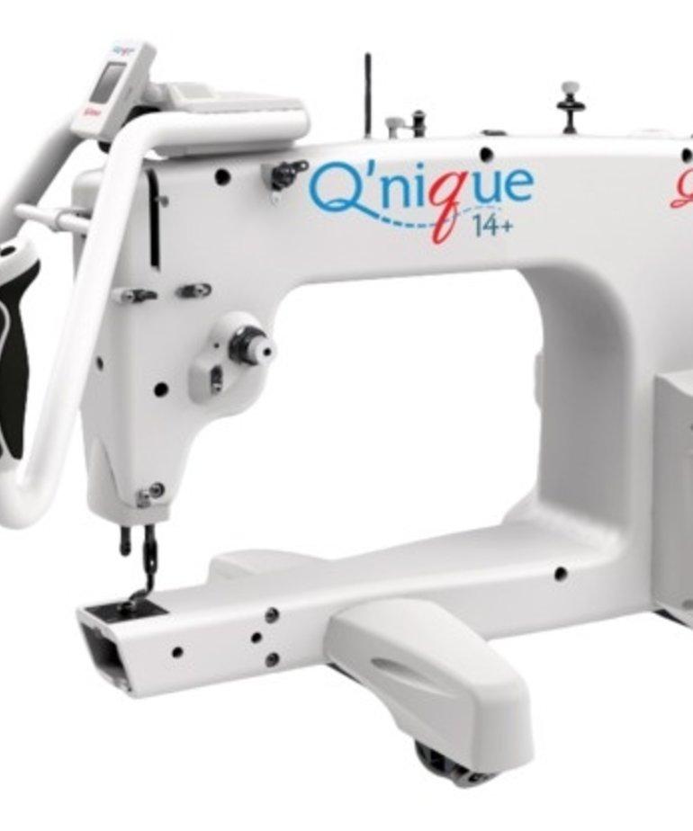 """Grace 8' Continuum Metal Quilting Frame, Adjustable Height +15x8"""" Qnique 15R Longarm Quilting Machine, 1800SPM, Stitch Regulation, Bonus Light Bar"""