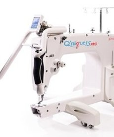 Grace Qnique 15PRO Recertified New Warranty, 15x8in Longarm Quilting Machine, V-Track Wheels, Stitch Regulation., Touch Screen & Menus, up to 2000SPM