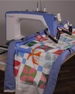 """Grace Cutie Table Top Portable Metal Quilting Hoop 36"""" Fabric Frame for Qnique 15-19"""" or w/Top Plate & Handles for Home Sewing Machines+Accessory Pack"""